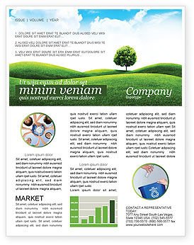 Meadow Newsletter Template, 03213, Nature & Environment — PoweredTemplate.com