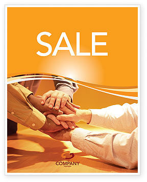 Unity Sale Poster Template, 03214, Business — PoweredTemplate.com