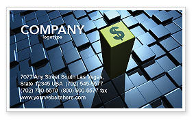 Dollar Rate Business Card Template, 03215, Financial/Accounting — PoweredTemplate.com