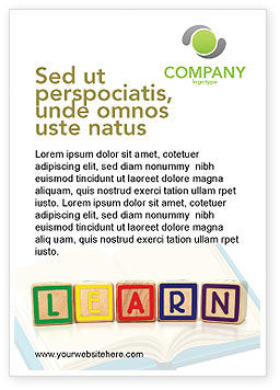 Education & Training: Learning Cubes Ad Template #03216
