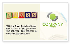 Learning Cubes Business Card Template, 03216, Education & Training — PoweredTemplate.com