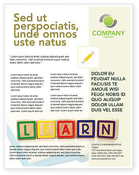 Learning Cubes Flyer Template