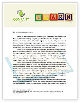 Learning Cubes Letterhead Template, 03216, Education & Training — PoweredTemplate.com