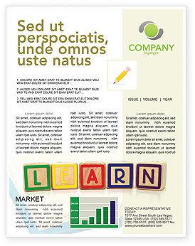 Education & Training: Modèle de Newsletter de des cubes d'apprentissage #03216