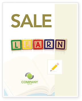 Learning Cubes Sale Poster Template, 03216, Education & Training — PoweredTemplate.com