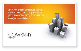 Construction: Downtown Business Card Template #03217