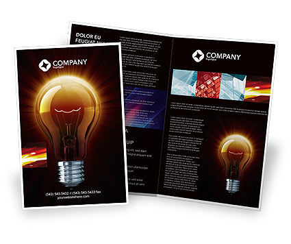 Light Bulb Brochure Template, 03218, Business Concepts — PoweredTemplate.com