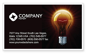 Light Bulb Business Card Template, 03218, Business Concepts — PoweredTemplate.com