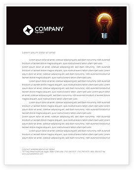 Business Concepts: Light Bulb Letterhead Template #03218