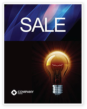 Business Concepts: Light Bulb Sale Poster Template #03218