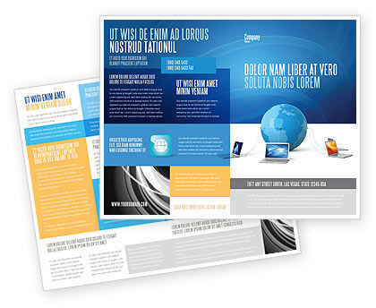 Technology, Science & Computers: Global Connection Brochure Template #03220