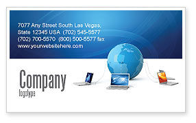Technology, Science & Computers: Global Connection Business Card Template #03220