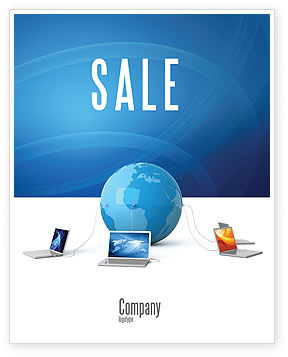 Technology, Science & Computers: Global Connection Sale Poster Template #03220
