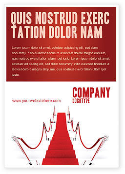 Careers/Industry: Red Carpet Pad Advertentie Template #03221