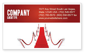 Careers/Industry: Red Carpet Path Business Card Template #03221