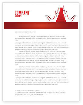 Red Carpet Path Letterhead Template, 03221, Careers/Industry — PoweredTemplate.com