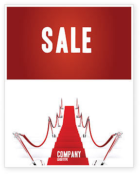 Careers/Industry: Red Carpet Path Sale Poster Template #03221