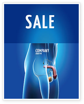 Male Reproductive Organs Sale Poster Template