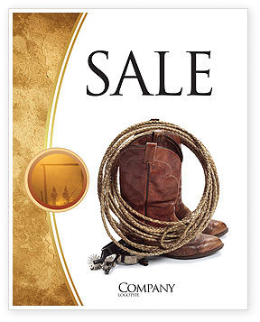 America: Cowboy Boots Sale Poster Template #03224