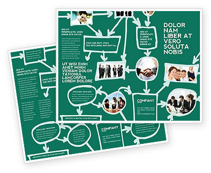 Consulting: Scheme Of Team Work Brochure Template #03226