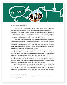 Consulting: Scheme Of Team Work Letterhead Template #03226