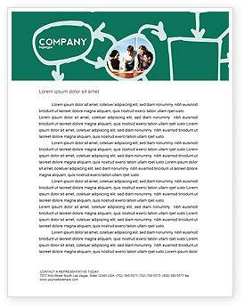 Scheme Of Team Work Letterhead Template, 03226, Consulting — PoweredTemplate.com