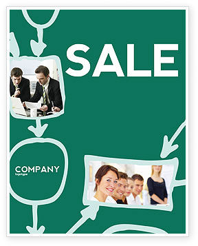 Scheme Of Team Work Sale Poster Template, 03226, Consulting — PoweredTemplate.com