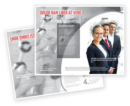Careers/Industry: Business Teamwork Brochure Template #03228