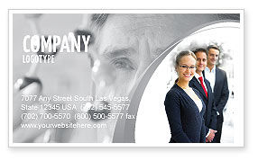 Careers/Industry: Business Teamwork Business Card Template #03228