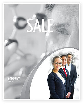 Business Teamwork Sale Poster Template, 03228, Careers/Industry — PoweredTemplate.com
