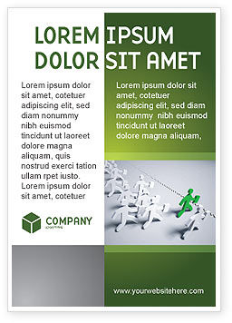 Business Work Ad Template, 03229, Business Concepts — PoweredTemplate.com