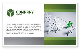 Business Work Business Card Template, 03229, Business Concepts — PoweredTemplate.com