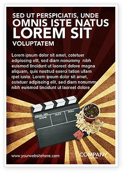 Films and Cinema Ad Template, 03230, Art & Entertainment — PoweredTemplate.com
