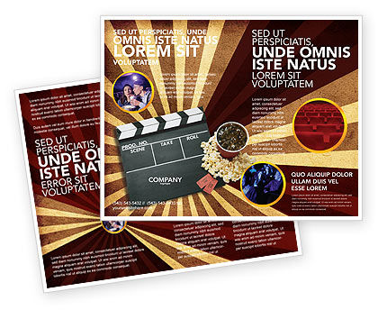 Films and Cinema Brochure Template, 03230, Art & Entertainment — PoweredTemplate.com