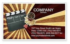Art & Entertainment: Films and Cinema Business Card Template #03230