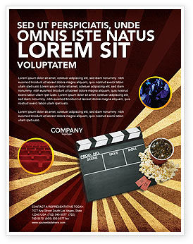 Art & Entertainment: Films and Cinema Flyer Template #03230