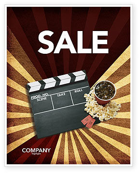 Art & Entertainment: Films and Cinema Sale Poster Template #03230