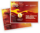 Abstract/Textures: Fire Flame Brochure Template #03234