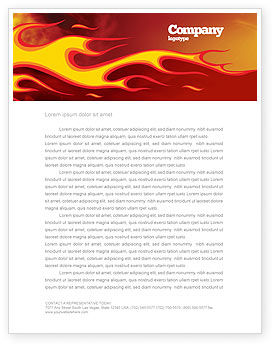 Fire Flame Letterhead Template, 03234, Abstract/Textures — PoweredTemplate.com