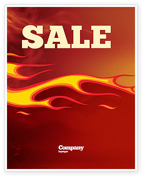 Fire Flame Sale Poster Template, 03234, Abstract/Textures — PoweredTemplate.com
