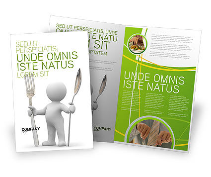 Careers/Industry: Meal Brochure Template #03236