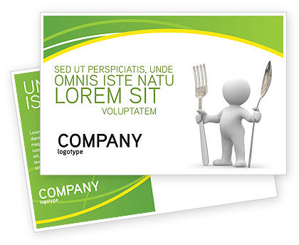 Meal Postcard Template, 03236, Careers/Industry — PoweredTemplate.com