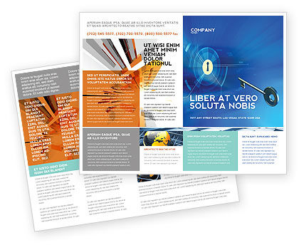 Technology, Science & Computers: Key Of Blue Door Brochure Template #03237