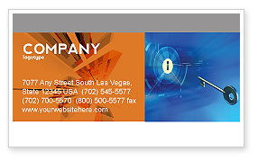 Technology, Science & Computers: Key Of Blue Door Business Card Template #03237