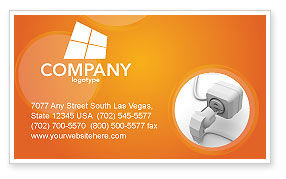 Technology, Science & Computers: Internet Point Business Card Template #03244