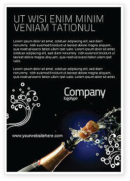 Holiday/Special Occasion: Champagne Advertentie Template #03246