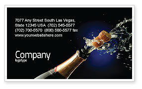 Holiday/Special Occasion: Champagne Business Card Template #03246