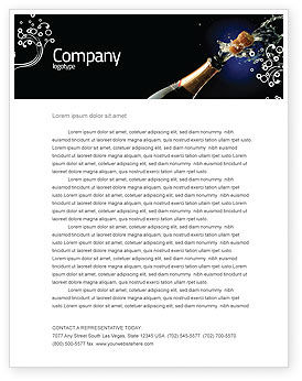 Champagne Letterhead Template, 03246, Holiday/Special Occasion — PoweredTemplate.com