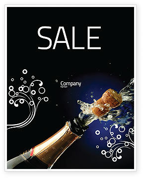 Holiday/Special Occasion: Champagne Sale Poster Template #03246
