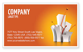 Rising Rates Business Card Template, 03248, Consulting — PoweredTemplate.com